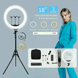 18 Inch Bicolor Led Ring Light Kit With Stand Social Media/beauty Shoot