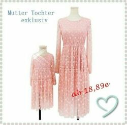 Mother Daughter Dress Family Matching Mom And Me Girls Long Sleeve Dress
