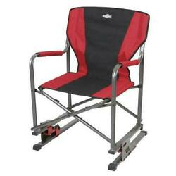 Guidesman Rocking Spring Folding Bouncing Quad Directors Chair Outdoor Camping