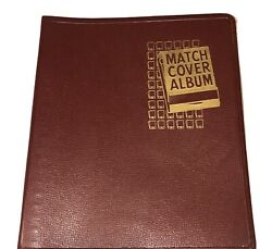 Vintage Beachcraft Red Match Cover Album W/2 Old Matchbook Covers