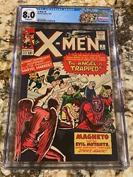 X-men 5 Cgc 8.0 Ow Pages Hi End 3rd Magneto 2nd Scarlet Witch Quicksilver Mcu