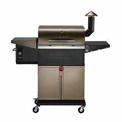 Zpg-600d 2021 New Model Wood Pellet Grill And Smoker 8 In 1 Bbq Grill Auto Temp...