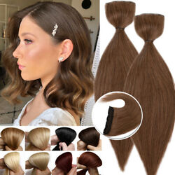 Short 100 Human Hair Extensions Clip In One Piece Volumn 2+5clips Hairpiece Us
