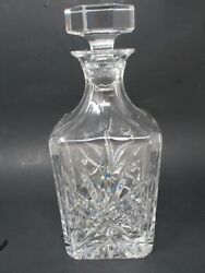 Vintage Irish Crystal Liquor Decanter W/faceted Stopper