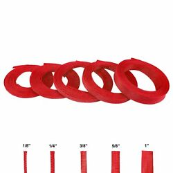 Red Wire Loom Variety Pack - 50 Feet Total Flex Wiring Sheathing Braided Cover