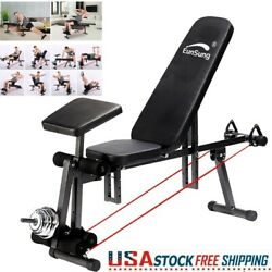 Foldable Adjustable Dumbbell Weight Bench Stool Sit Up Workout Home Gym Fitness.