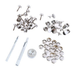 63pcs Boat Cover Snap Button Fastener Kit 15mm Screw W/ Installation Tool