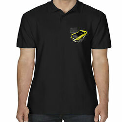Ford Mustang Polo Shirt Licensed Muscle Car Front Logo American Boss Horsepower