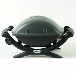 Weber Q1400 Portable Outdoor Tabletop Electric Grill Black 52020001