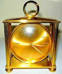 Vtg Bucherer Imhof, Swiss 8, Gold Carriage-style Alarm Clock - Sold As Parts