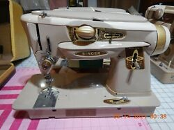 Singer 500a Slantomatic Sewing Machine The Rocketeer. With Cams