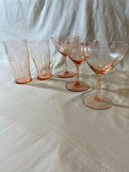Antique Pink Depression Glass - Lot Of Misc. Pieces