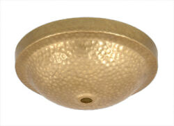Bandp Lamp Hammered Arts And Crafts Design Canopy, No Hardware, Ant. Brass Finish