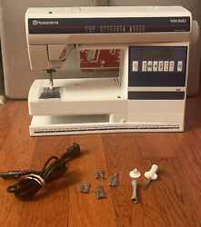 Husqvarna Viking Fresia 415 Sewing Machine - No Pedal Untested For Parts Repair