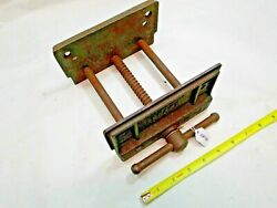 Sears Woodworker's Bench Vise, 6-5/8 W X 2-1/2 Deep Jaws Opens To 5, Usa