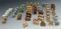 Group Of 52 Wade England Whimsy Red Rose Tea Animal Figurines