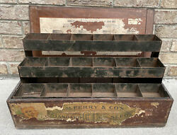 Antique Aafa General Store D.m. Ferry And Co' Seed Display Wood Box Smoky Mtns