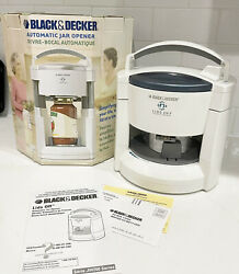 Black And Decker Lids Off Automatic Jar Opener Jw200 White New Open Box Tested