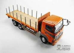 Lesu 1/14 Rc Model Hino 64 Flatbed Lorry Tractor Truck Metal Chassis W/ Motor