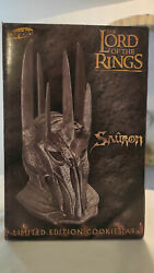 Lord Of The Rings Limited Edition Ceramic Sauron Bust Cookie Jar