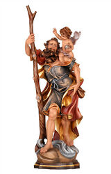 Saint Christopher Statue Wood Carved
