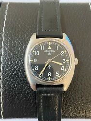 Hamilton W10 British Army Military Vintage Watch With Issue Date Stamped 1973