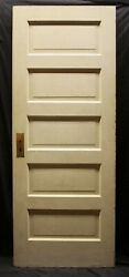 2 Avail 30x77.5 Antique Vintage Old Solid Wood Wooden Interior Doors 5 Panel