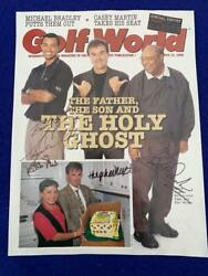 1998 Tiger Woods Dad Mom And 1st Agent Signed Golf World Magazine Cover W Loa