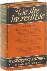 Womenand039s History / We Are Incredible Inscribed To Her Parents Signed 1st Ed 1928