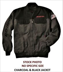New Snap-on Tools Jacket Large Charcoal And Black Jacket Nwt Free Shipping