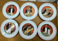 Guy Buffet The Making Of A Perfect Martini Eshenbach Plate Complete Set Of 6