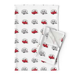 Vintage Camper Trailer Canned Ham Linen Cotton Tea Towels By Roostery Set Of 2