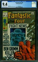 Fantastic Four 92 Cgc 9.4 -- 1969 -- Thing Wanted Poster. Kirby 1248124015