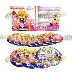 Sailor Moon Complete Collection - Anime Dvd Box Set 1-239 Episodes + 5 Movies