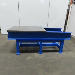 1-5/8 Thick Steel Fabrication Layout Welding Table Work Bench 84-1/2x35x34