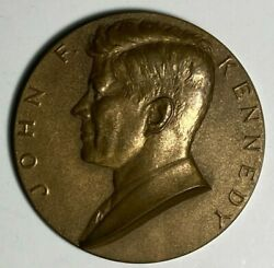 1961 John F Kennedy Inaugural 3 Bronze Medal By Us Mint Gilroy Roberts Designer