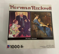 Doctor And Doll/bedtime Norman Rockwell 1000 Pc Jigsaw Puzzle New