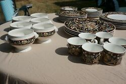Villeroy And Boch-1748-bone China-40 Pc-chateau Collection-germany-intarsia