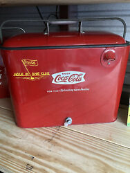 """Vintage Coca-cola Cooler """" Hole In One Club"""" Rare Coke Ice Chest Never Used"""