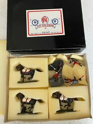 Ani Toy Soldiers Vintage Cavalry Horses Military Figures Set Cwc 104 Nos Mib New