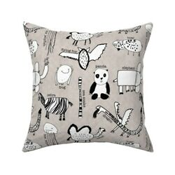Panda Animals Zoo Dragon Throw Pillow Cover w Optional Insert by Roostery