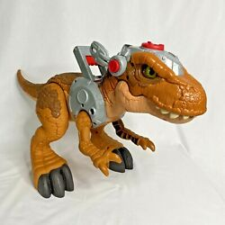 Huge Fisher Price Imaginext Jurassic World T Rex Fmx85 Lights And Sound Works