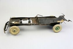 Antique Kingsbury Toys Wind-up Pressed Steel Toy Car Chassis For Parts Repiair
