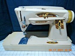Singer 503a Rocketeer Sewing Machine W/case/accessories/manual Serviced