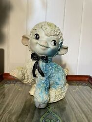 Vintage 1950's Ashland Rubber Lamb Great Condition Squeaker Works Glows