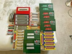 N Scale Lot 45+ Cars And 2 Loco's Kato Maxi-iv And Autorack Athearn Atlas And More