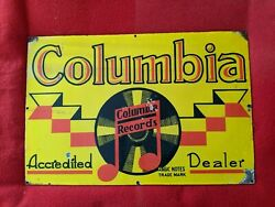 Columbia Record Porcelain Sign