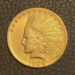 1910 Gold Usa 10 Indian Head Eagle Coin Mint