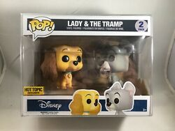 Lady And The Tramp Funko Pop 2-pack Disney Hot Topic Exclusive W/pop Protector