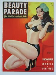 Beauty Parade Magazine Vol. 6 1, February 1947 Fn Great Peter Driben Cover